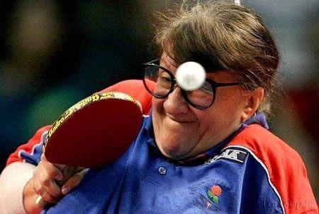 عکس های طنز ورزشی  چهره های دیدنی در تنیس روی میز (شکار لحظه ها) - عکس