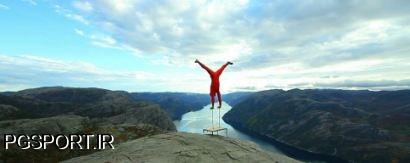 حرکت آکروبات خطرناک ورزشکار شجاع-جرکت ژیمناستیک