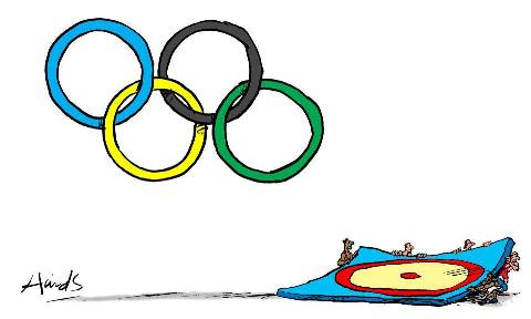کاریکاتور حذف کشتی از بازیهای المپیک