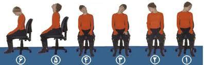 این هم تمرین تصویری نرمش های گردن درد  برای کارمندان