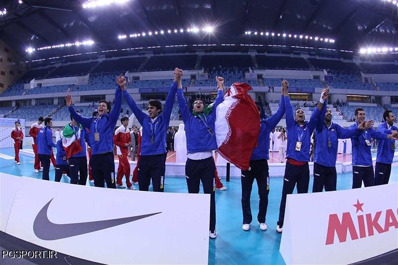 قهرمانی تیم ملی والیبلا ایران