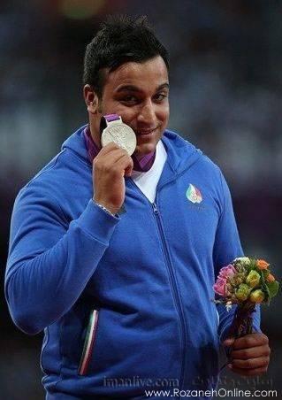 مدال نقره المپیک لندن  احسان حدادی و مدال ارزشمند نقره پرتاب دیسک