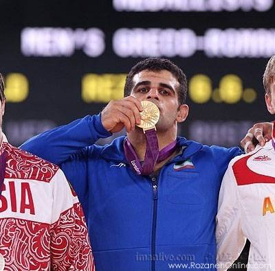 قاسم رضایی در وزن 96 کیلوگرم مدال طلا گرفت